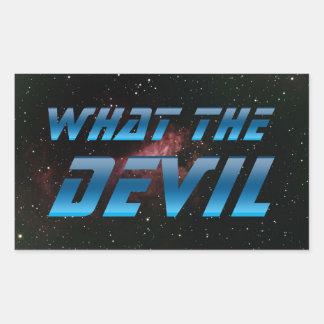 Vad djävulen rektangulärt klistermärke