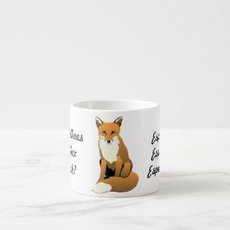 Vad dricker räven? Espresso! Mugg Espressomugg