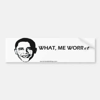 Vad mig bekymmer? - Bildekal