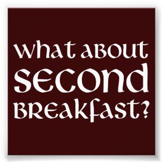 Vad om understödja frukosten, fototryck