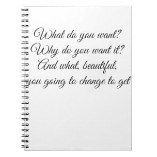 Vad önskar du? anteckningsbok