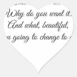 Vad önskar du? hjärtformat klistermärke