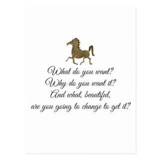 Vad önskar du unicorn? vykort