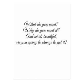 Vad önskar du? vykort