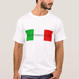 Vada en italiensk flagga för bordoskjorta t-shirts