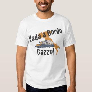 Vada enskjorta för katastrof för Bordo Tshirts