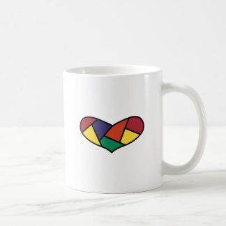 Vadderad hjärta kaffemugg