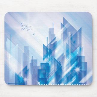 Vadderar den abstrakt stadsmusen för blått musmatta
