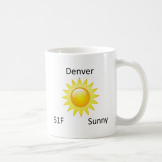 väder soliga Denver Kaffemugg