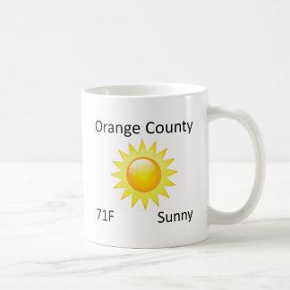 väderorangelän kaffemugg