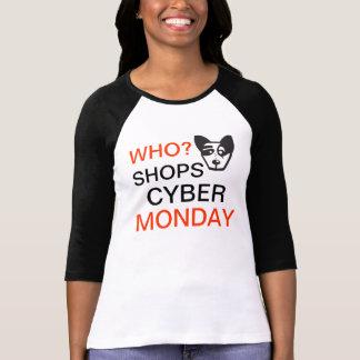 Vadow som shoppar CyberMåndag kvinna T-tröja Tee Shirt