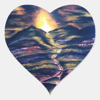 Väg av liv hjärtformat klistermärke