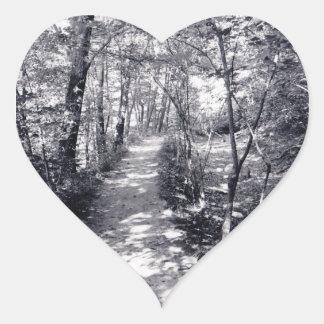Väg av tro hjärtformat klistermärke