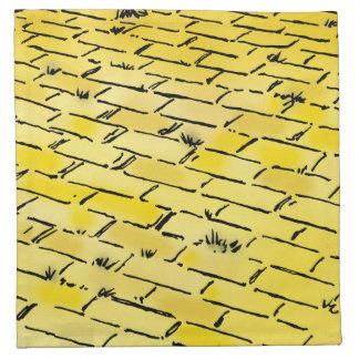 Väg för vintageWizard of Oz gul tegelsten vid Tygservett