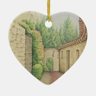 Väg i Eze, dekoration för frankrikemors daghjärta