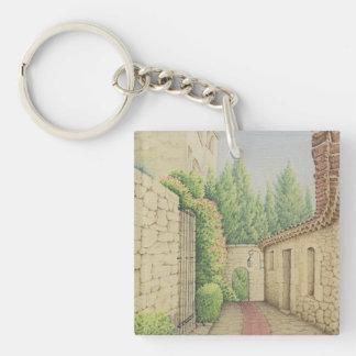 Väg i Eze, nyckelring för Cote d'Azur