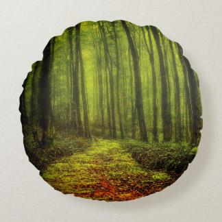 Väg i skogen rund kudde