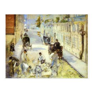 Väg-mendersna, Rue de Berne av Edouard Manet Vykort