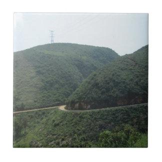 väg och landskap kakelplatta