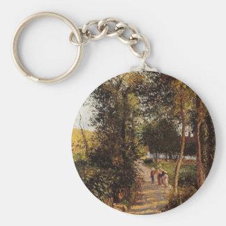 Väg till Berneval-le-Petit av Camille Pissarro Rund Nyckelring