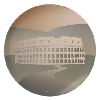 Väg till Colosseumen, Rome, italien Tallrik