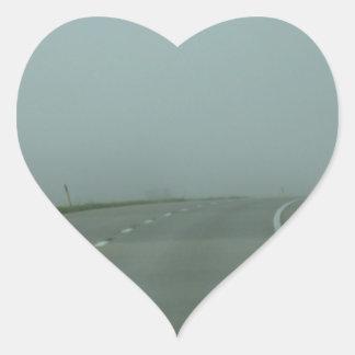 Väg till inget var hjärtformat klistermärke