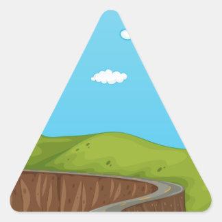 Väg Triangelformat Klistermärke