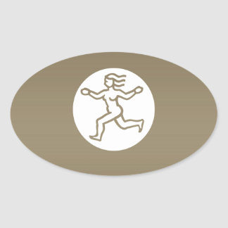VÅG - ZODIACsymbol Ovalt Klistermärke