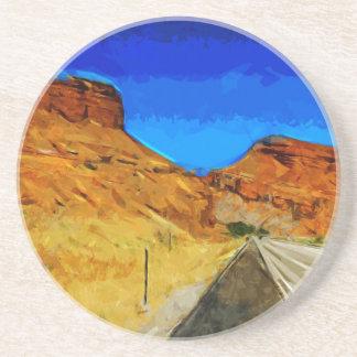 VägAlong sida den Tetons abstrakten Underlägg