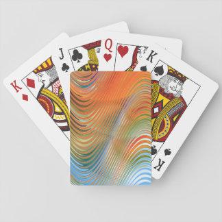 Vågar av färg casinokort