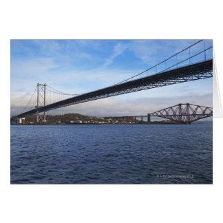 Vägen Bridge för förgrund är framåt en upphängning Hälsningskort