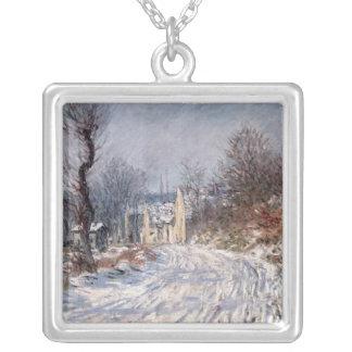 Vägen till Giverny, vinter, 1885 Silverpläterat Halsband