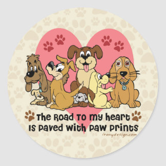 Vägen till min hjärtahundar runt klistermärke