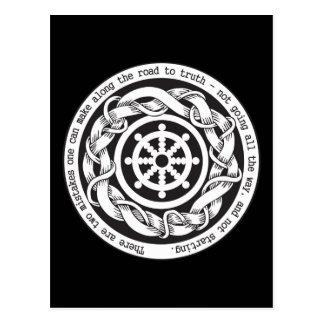 Vägen till sanning Dharma rullar Vykort