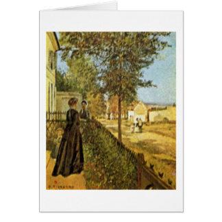 Vägen till Versailles av Camille Pissarro Hälsningskort