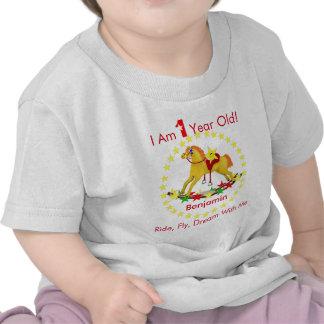 Vagga den 1st födelsedagsfesten för häst t shirts