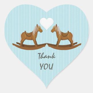 Vagga hästtackkuvertet försegla hjärtformat klistermärke