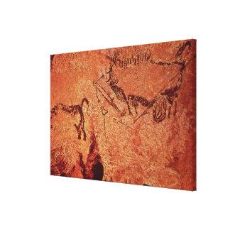 Vagga målning av en jaktplats, c.17000 BC Canvastryck