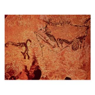 Vagga målning av en jaktplats, c.17000 BC Vykort