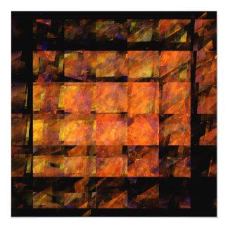 Väggabstraktkonsten Fyrkantigt 13,3 Cm Inbjudningskort