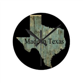 Väggen för bråte Texas för den statliga kartan tar Rund Klocka