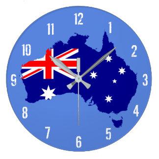 Väggen för den Australien flaggakartan tar tid på Stor Klocka