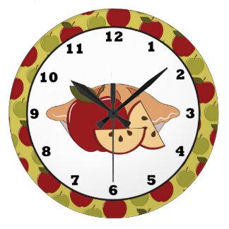 Väggen för fest för den Apple pajen tar tid på den Stor Klocka