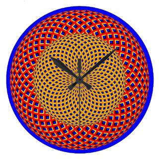 Väggen för illusionen för snurrandeSpheres tar tid Stor Rund Klocka