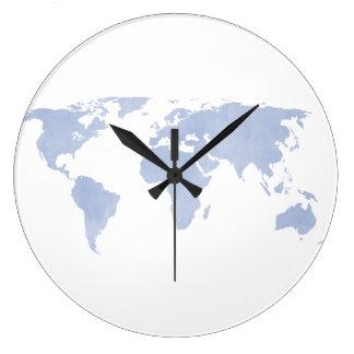 Väggen för kartan för Serenityblåttvärlden tar tid Stor Klocka