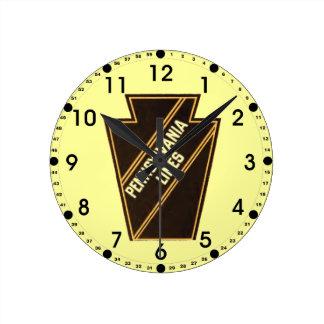 Väggen för logotypen för Pennsylvania Rund Klocka