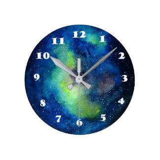 Väggen för utrymmerundan (medel) tar tid på rund klocka