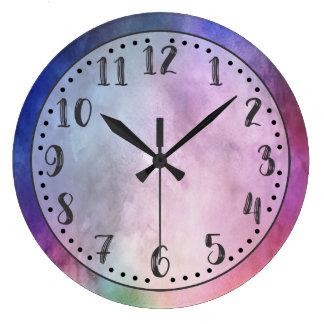 Väggen för vattenfärg två tar tid på stor klocka