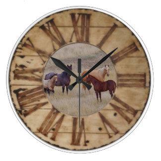 Väggen tar tid på hästen, och tar tid på westernt stor klocka