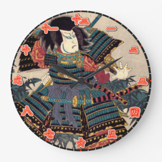 Väggen tar tid på japanska Kanjital för Samurai Stor Klocka